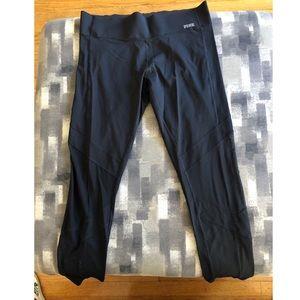 black athletic full length leggings from PINK